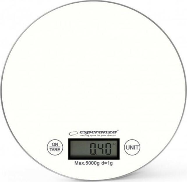 Esperanza EKS003 Ψηφιακή Ζυγαριά Κουζίνας 5kg White (EKS003W) - Πληρωμή και σε έως 36 Δόσεις!!!