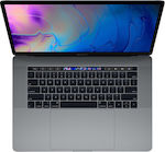 "Apple MacBook Pro 15.4"" (i7/16GB/256GB/Radeon Pro 555X) with Touch Bar (2019) Space Gray"