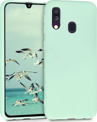 KW Back Cover Σιλικόνης Mint Matte (Galaxy A40)