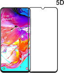Powertech 5D Full Glue Full Face Tempered Glass Black (Galaxy A70)