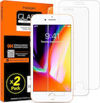 Spigen x2Pack Tempered Glass (iPhone 8 / 7)