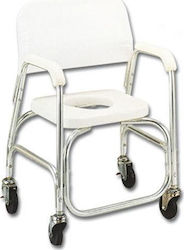 Johns Shower Chair Anodized Αλουμινίου με Ρόδες White 217566