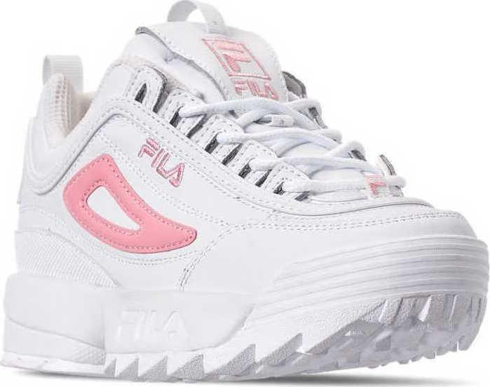 fila disruptor 2 white and pink