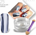 Yanni Extensions Magic Mirror Effect No. 25 Blue Silver