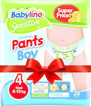 Babylino Sensitive Pants Boy Maxi No 4 (8-15kg) 4x20τμχ