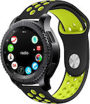 Softband Λουράκι Σιλικόνης Black/Lime (Galaxy Watch (46mm) / Gear S3)