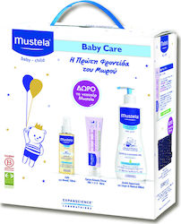 Mustela Promo Pack: Gentle Cleansing Gel 500ml & Vitamin Barrier Cream 50ml & Baby Oil 110ml & Δώρο Νεσεσέρ
