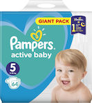 Pampers Active Baby No 5 (11-16kg) 64τμχ