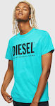 Ανδρικό T-shirt Diesel T-Diego-Logo 00SXED-0AAXJ-5II Light Blue