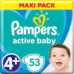 Pampers Active Baby No 4+ (9-16Kg) 53τμχ