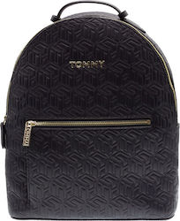 Tommy Hilfiger Τσάντα Πλάτης Δερματίνης Iconic Tommy AW0AW07840-0GZ Navy
