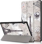 Magnetic 3-fold Flip Cover Eiffel Tower (MediaPad T5 10)