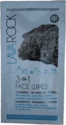 Aromaesti Lava Rock 3 in 1 Face Wipes Cleansing De-Makeup & Toning 10gr 1τμχ