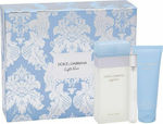 Dolce & Gabbana Light Blue Eau de Toilette 100ml, Body Cream 75ml & Eau de Toilette 10ml