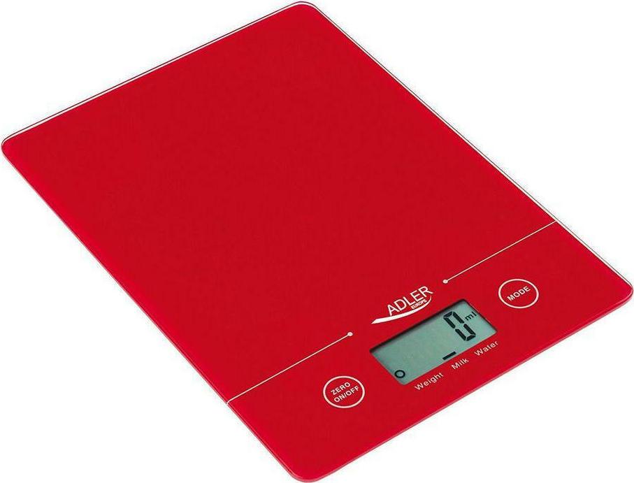 Adler AD-3138 Ψηφιακή Ζυγαριά Κουζίνας 5kg Red (AD 3138 r) - Πληρωμή και σε έως 36 Δόσεις!!!
