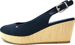Tommy Hilfiger Wedge Iconic Elba Sling Navy