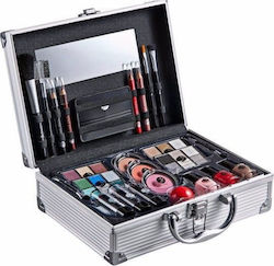 2K All About Beauty Train Case Complete Makeup Palette