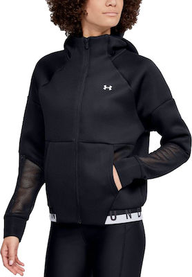 Γυναικείο Φούτερ Under Armour MOVE Mesh Inset Full Zip 1354360-001 Black