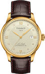 Ανδρικό Ρολόι Tissot Le Locle T006.407.36.266.00 Gold/Brown