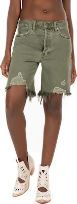 Free People Sequoia Jeans Shorts-Olive (Σορτς Γυναικείο Olive - OB1072556)
