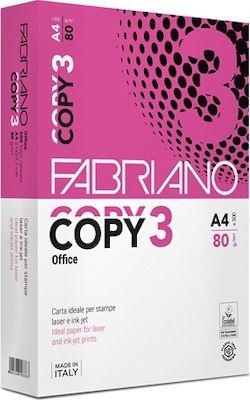 Fabriano Copy 3 Χαρτί Εκτύπωσης A4 80gr/m² 500 φύλλα
