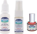 Imperial Feet Nail Gel Mycosis 20ml, Anti-fungal Spray 10ml & Fungal Nail Polish Red 12ml