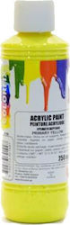 Colorfix Acrylic Paint 250ml Primary Yellow