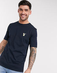 Selected Homme t-shirt with embroidered chest logo in navy
