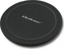 Qoltec Wireless Charging Pad (Qi) Μαύρο  (51841) - Πληρωμή και σε έως 36 Δόσεις!!!