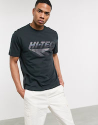 Hi-Tec iridescent chest print t-shirt in washed black