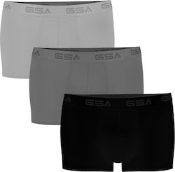 GSA 17-1204-06 Ανδρικά Boxer 3 Pack Gray / Dark Gray / Black