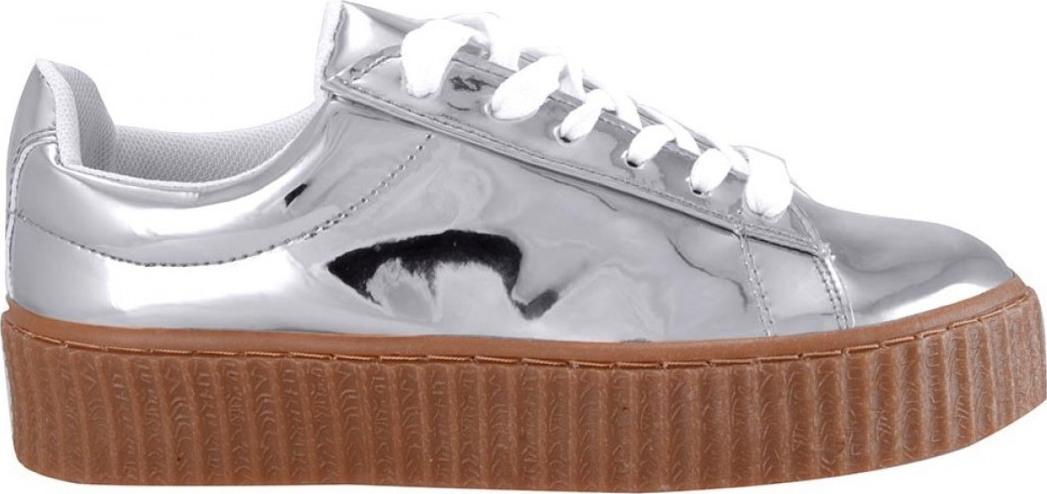 Famous Shoes 2323-ARGENTO Γυναικείο Sneaker Ασημί - Skroutz.gr